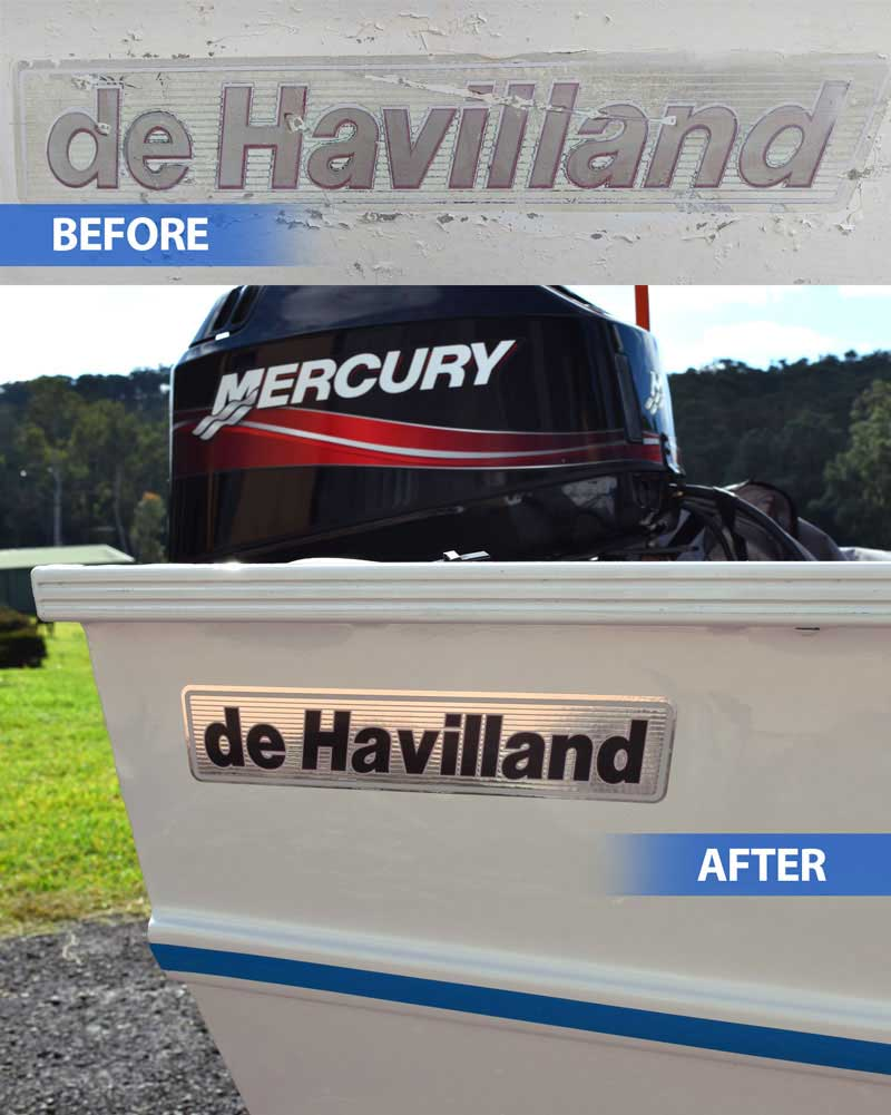 Boat Names de Havilland Replica Decal