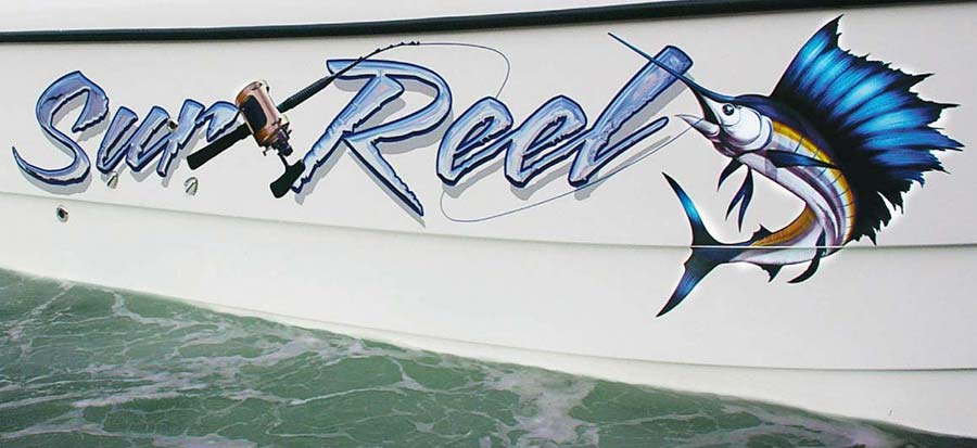 Boat Names Australia Graphic Design Service - Fish Graphics