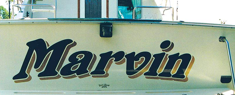 Cruiser Boat Name Marvin