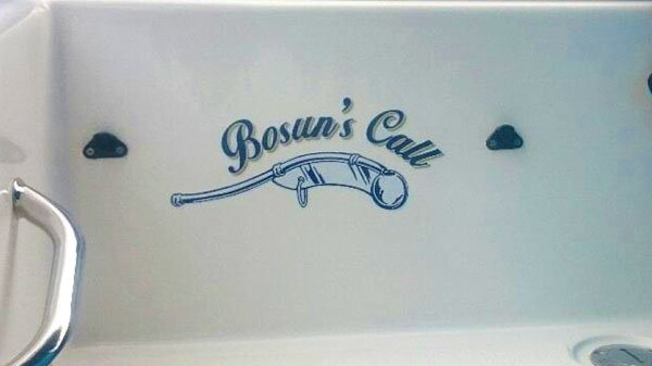Custom Boat Graphics Bosuns Call