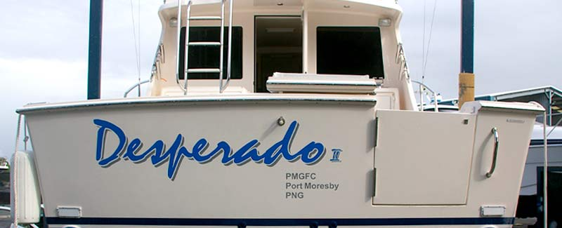 Game Boat Desperado II Transom Name