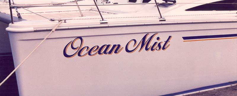 Multi Hull Boat Name Ocean Mist