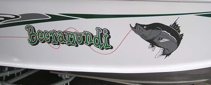 Name for a speed boat beeramundi