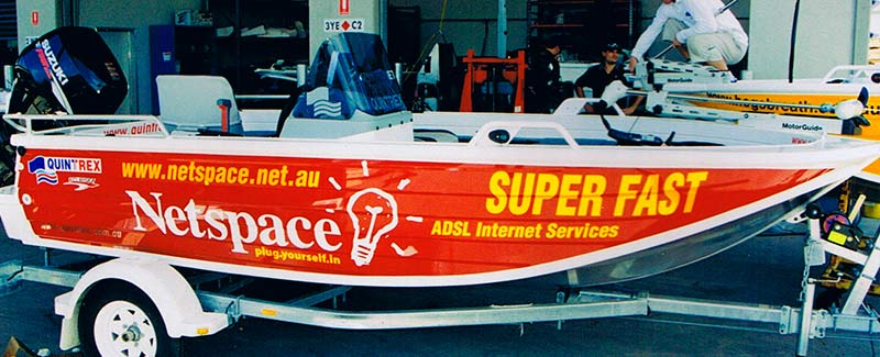 Netspace Boat Decal Sticker for Tinnies