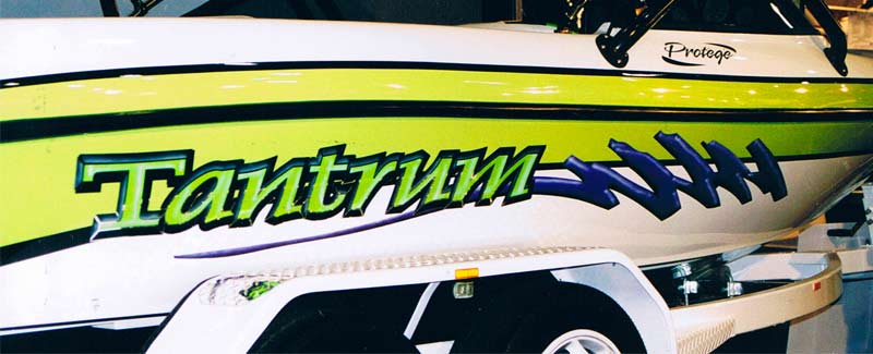 Side Graphics Tantrum Ski Boat