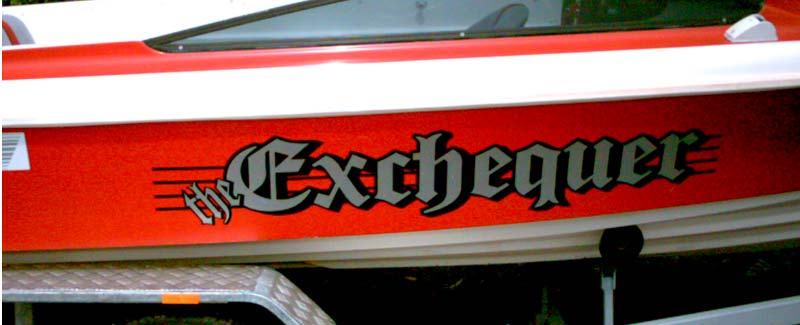 The Exchequer Side Graphics Ski Boat
