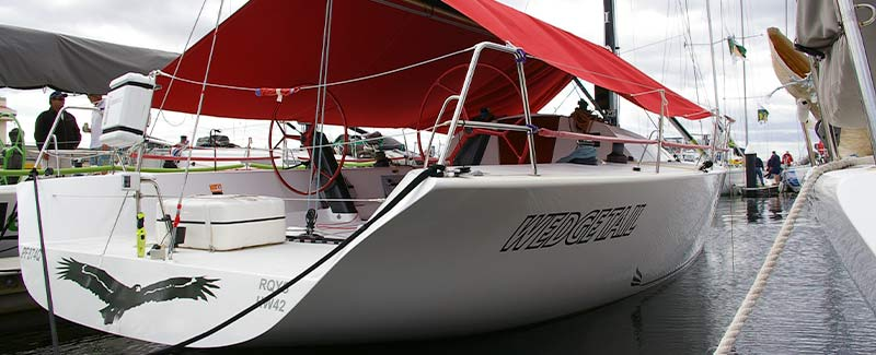 Wedge Tail Transom Name Yacht Name
