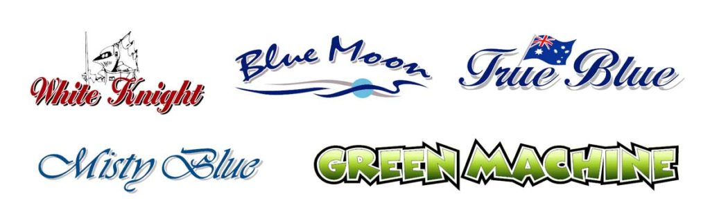 Best Boat Names using colours