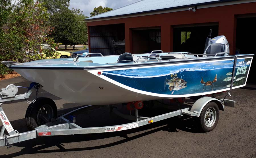Bowdidge Marine Tropic 14 Boat Wrap
